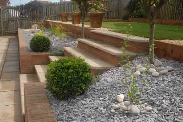 Martin seeber garden design blog archive contemporary for Split level garden designs